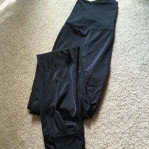 NWT Beyond Yoga Black Leggings with Mesh Detail